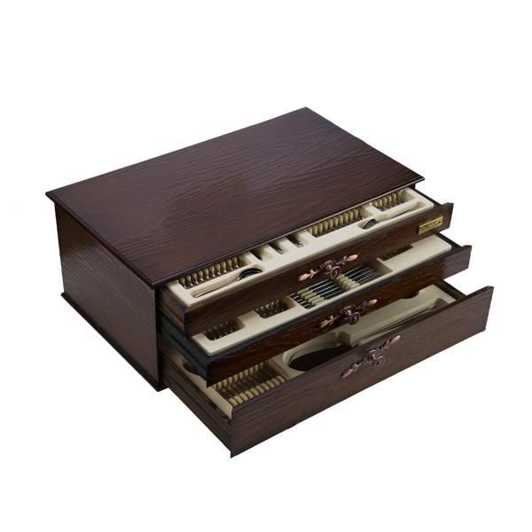 سرویس قاشق و چنگال 116 پارچه ناب استیل مدل Palermo