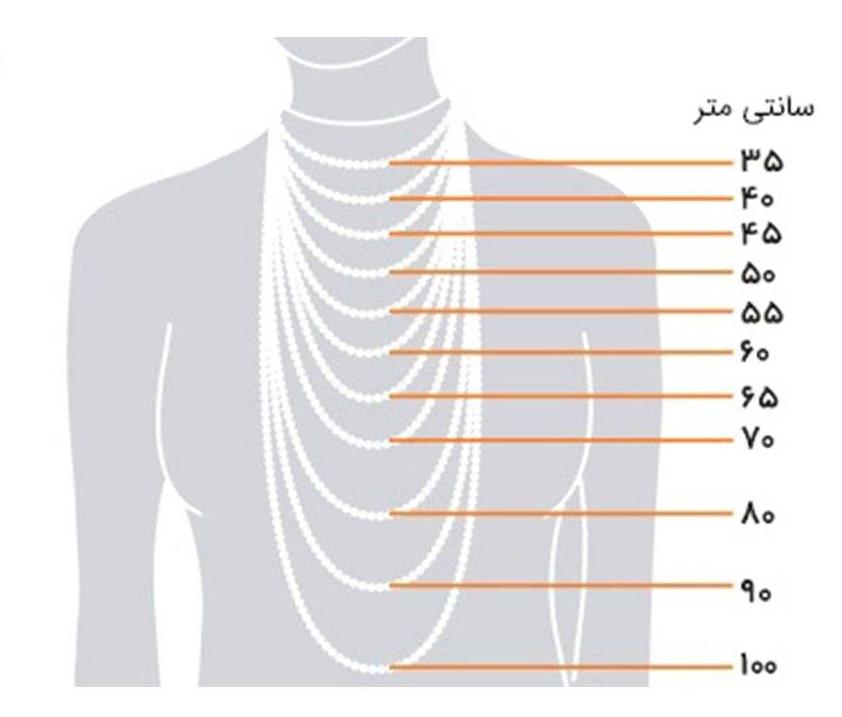 راهنمای انتخاب اندازه گردنبند