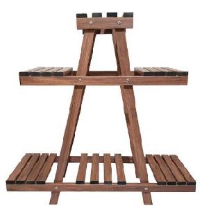 استند چوبی گل سه طبقه