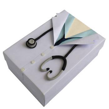 جعبه هدیه جعبه های رنگی رنگی توپک طرح پزشک