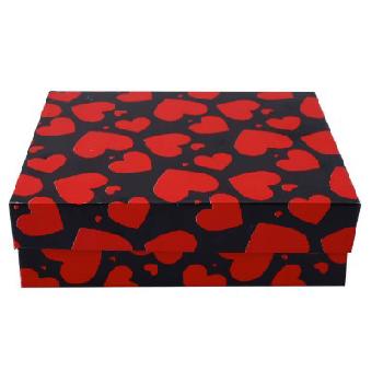 جعبه هدیه طرح قلب مقوایی