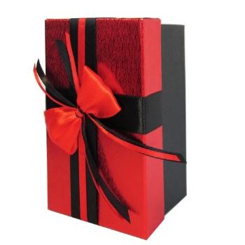 جعبه کادو قرمز مشکی