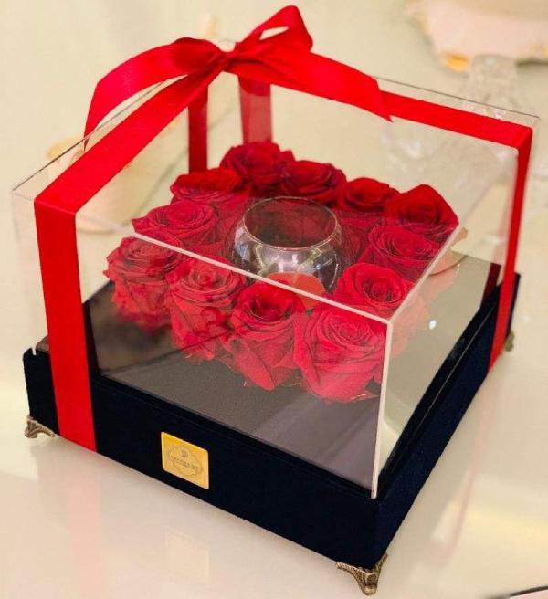 جعبه گل رز بزرگ