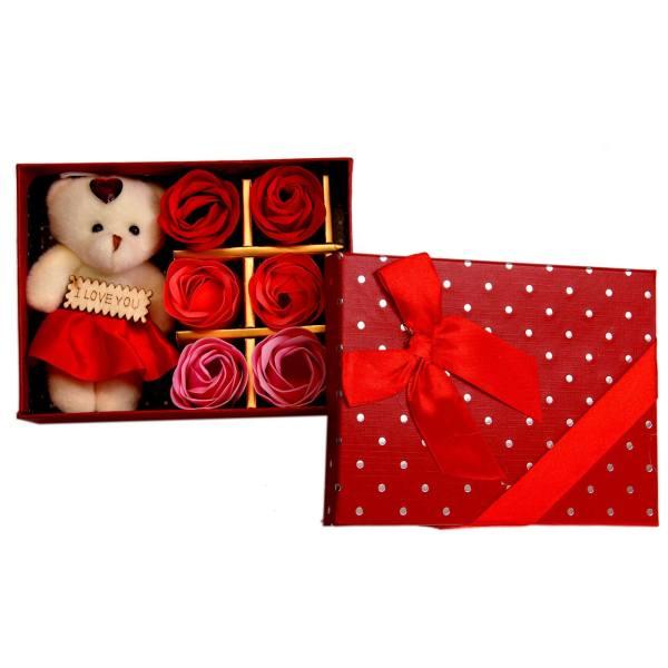 ست کادویی عروسک خرس مدل Red Heart