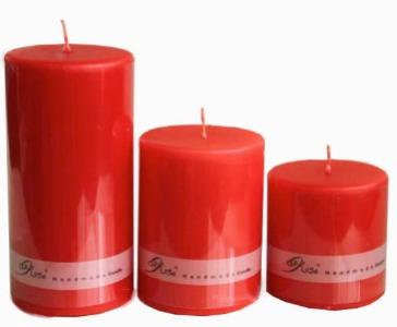 شمع رز طرح صدف مجموعه 3 عددی