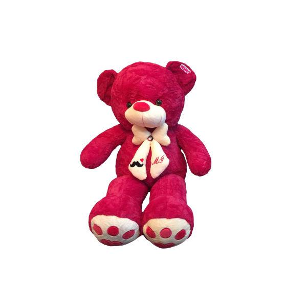 عروسک خرس قرمز ارتفاع 100 سانتیمتر