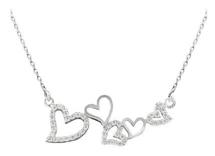 گردنبند نقره طرح قلب و عشق