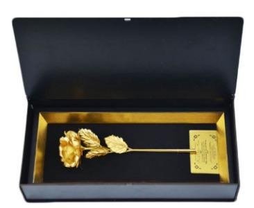 گل رز روکش طلای 24 عیار