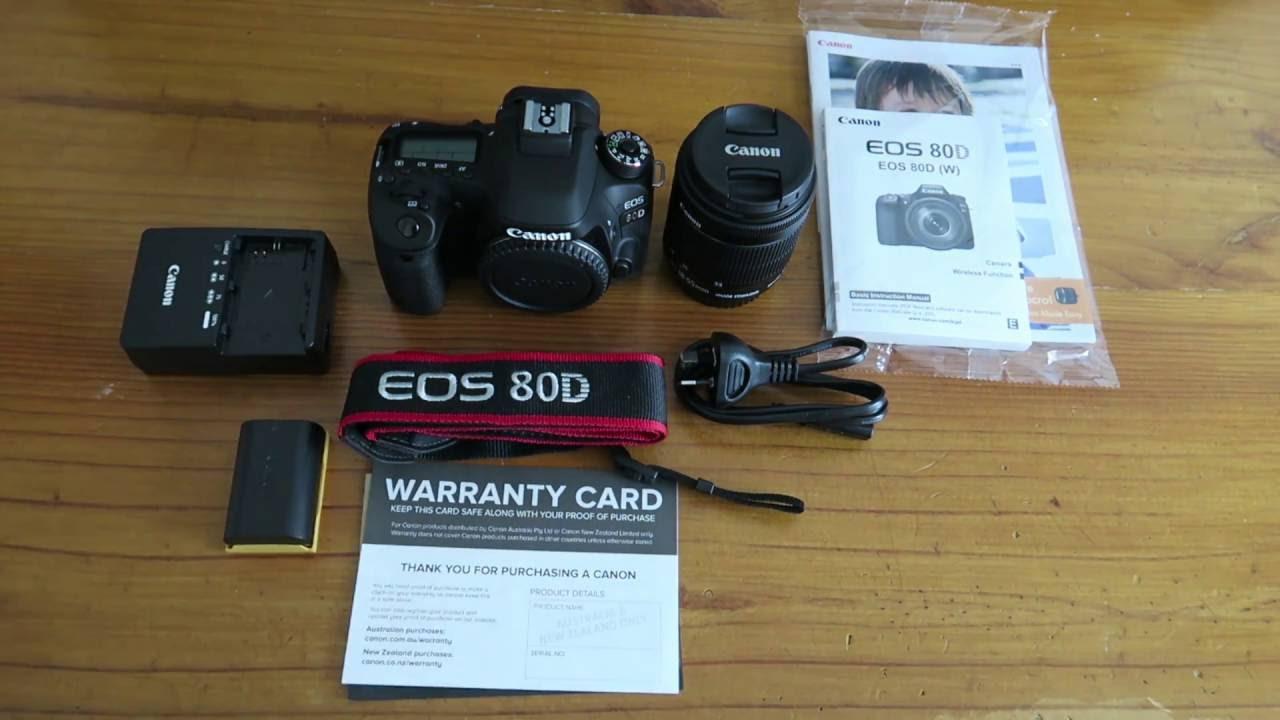 تجهیزات دوربین کانن 80 دی