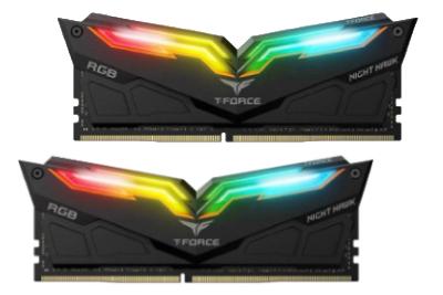 رم دسکتاپ DDR4 دو کاناله 3200 مگاهرتز CL16 تیم گروپ مدل T-FORCE NIGHT HAWK RGB 16 گیگابایت
