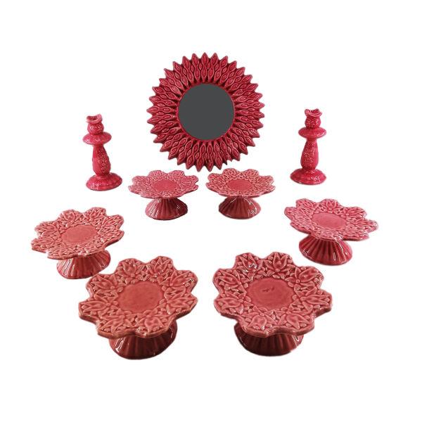 مجموعه ظروف هفت سین 9 پارچه مدل خورشید