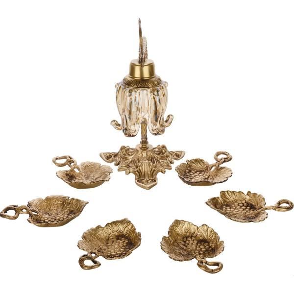 مجموعه هفت سین چشمه نور با چراغ رومیزی