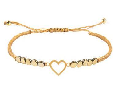 دستبند طلا دخترانه طرح قلب
