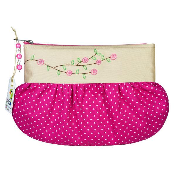 کیف لوازم آرایش زنانه طوطی دیزاین مدل یاس کد YS02