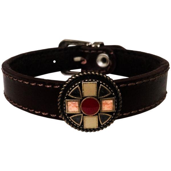 دستبند چرم وارک مدل آرشیدا