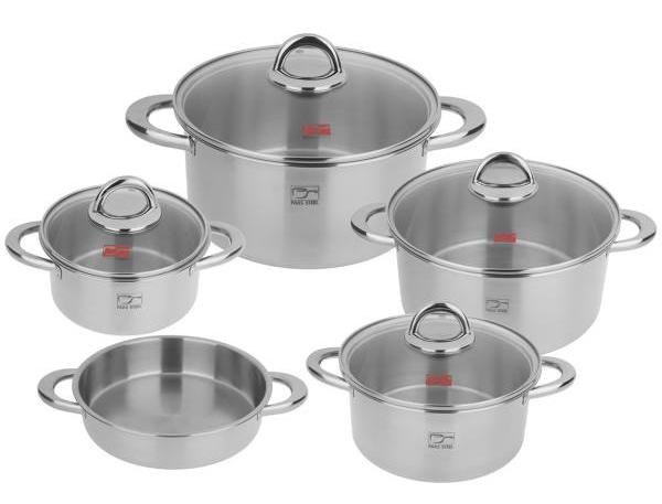 سرویس پخت و پز 9 پارچه پارس استیل