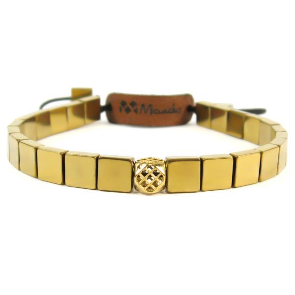 دستبند حدید و طلا 18عیار مانچو