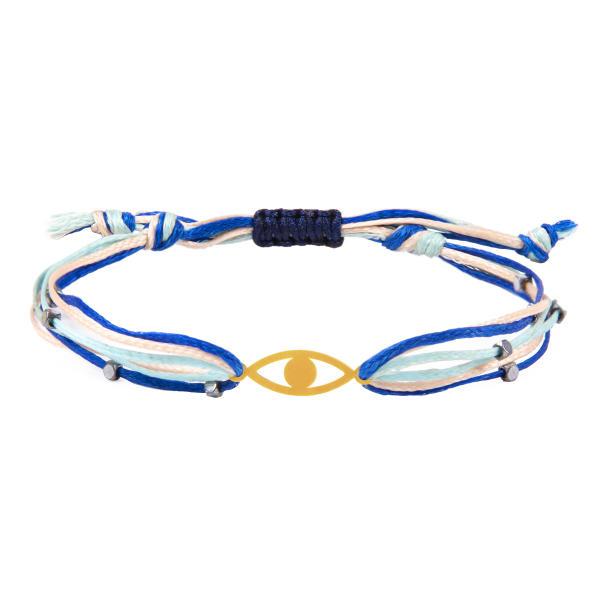 دستبند طلا دخترانه طرح چشم