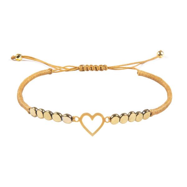 دستبند طلا دخترانه مدل قلب