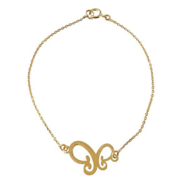 دستبند طلا دخترانه مدل پروانه