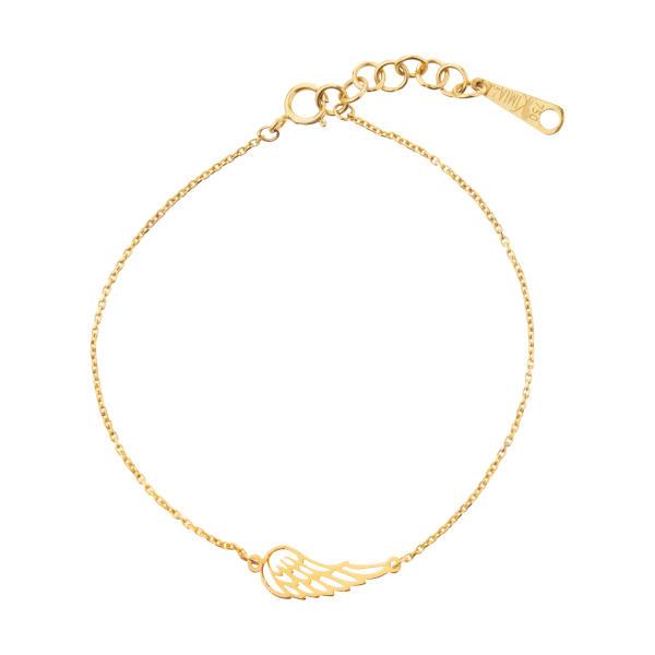 دستبند طلا نازک طرح بال پرنده