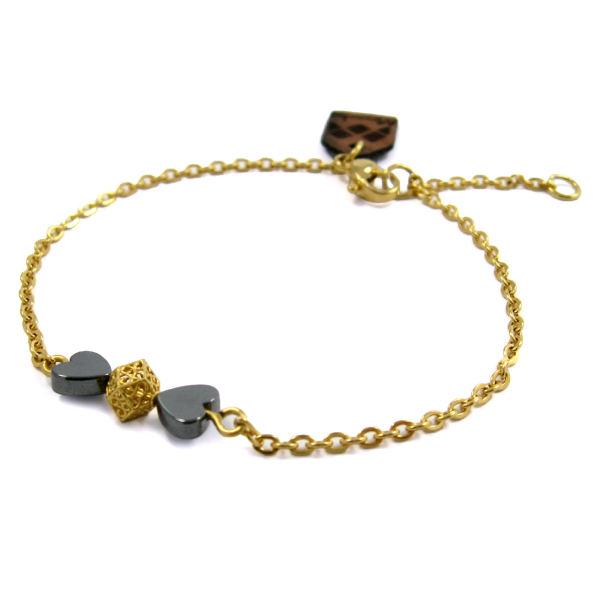 دستبند طلا 18عیار زنانه مانچو
