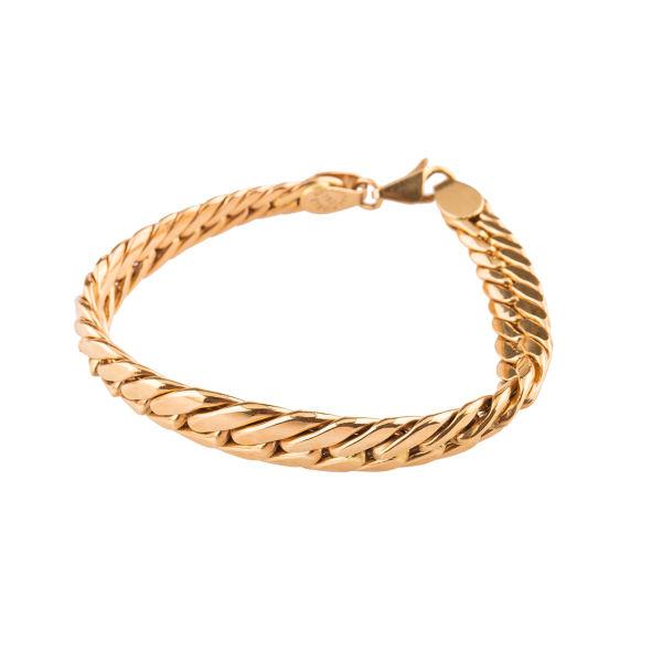 دستبند طلا 18عیار زنانه مدل کارتی پهن