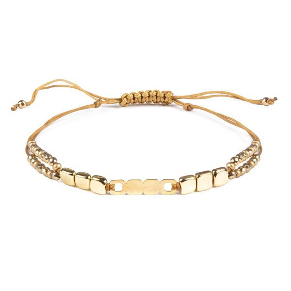 دستبند طلا 18 عیار زنانه ریسه گالری