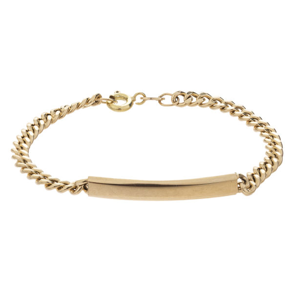 دستبند طلا 18 عیار مدل کارتی