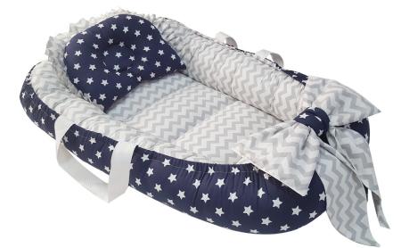 سرویس 3 تکه خواب نوزادی آویراد طرح ستاره و زیگزاگ