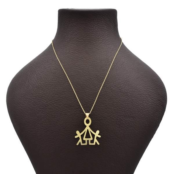 گردنبند طلا 18 عیار زنانه آمانژ طرح آدمک