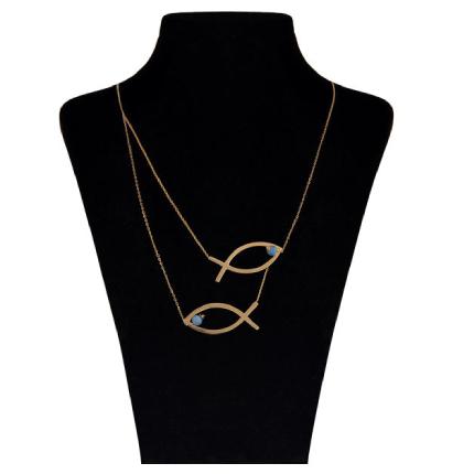 گردنبند طلا 18 عیار زنانه مایا ماهک مدل ماهی