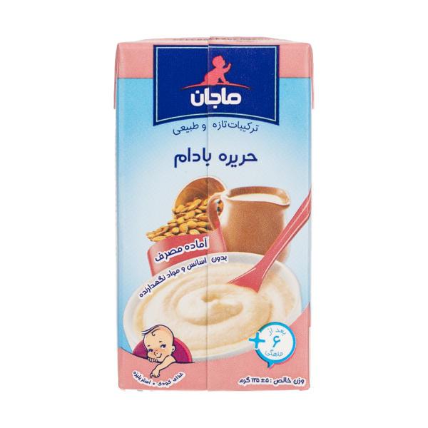 غذای کودک حریره بادام برای کودک ۶ ماهه ماجان کاله