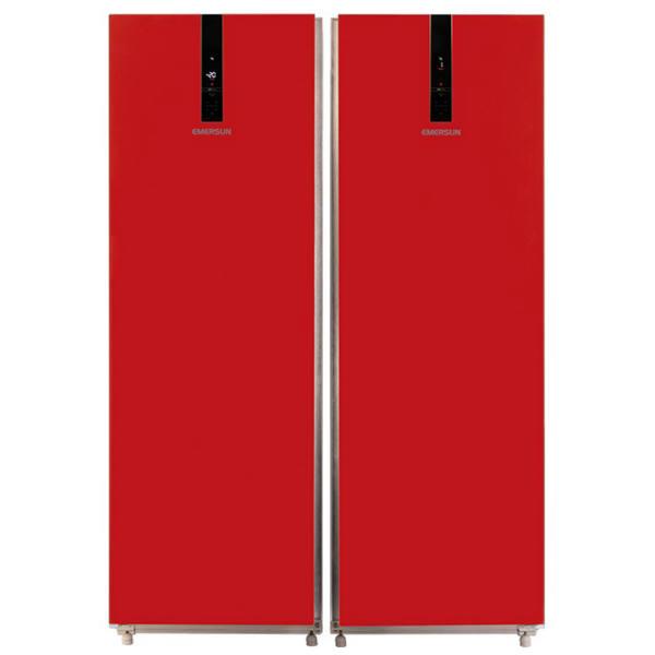 یخچال فریزر امرسان دوقلو رنگی - قرمز