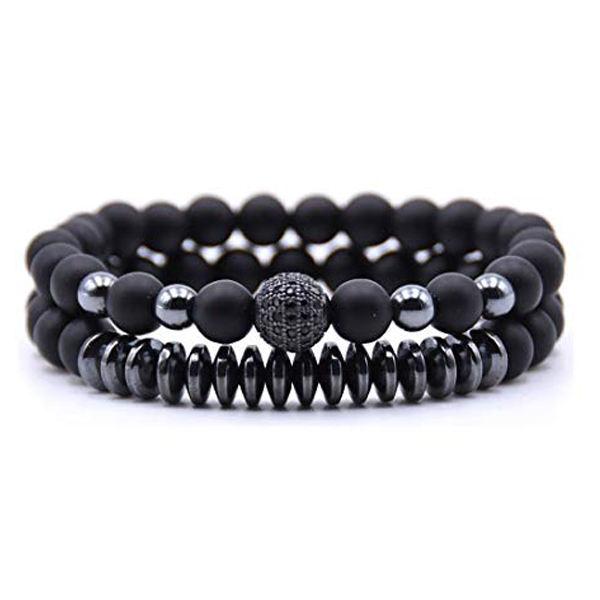 دستبند مردانه مدل دانلی کد S11 مجموعه 2 عددی
