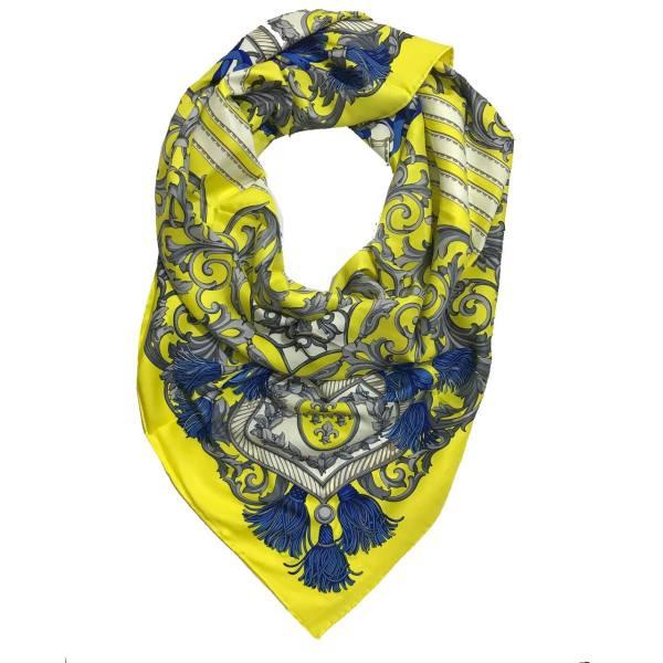 روسری ابریشم دور دست دوز قواره بزرگ مدل MUSILLI (1)