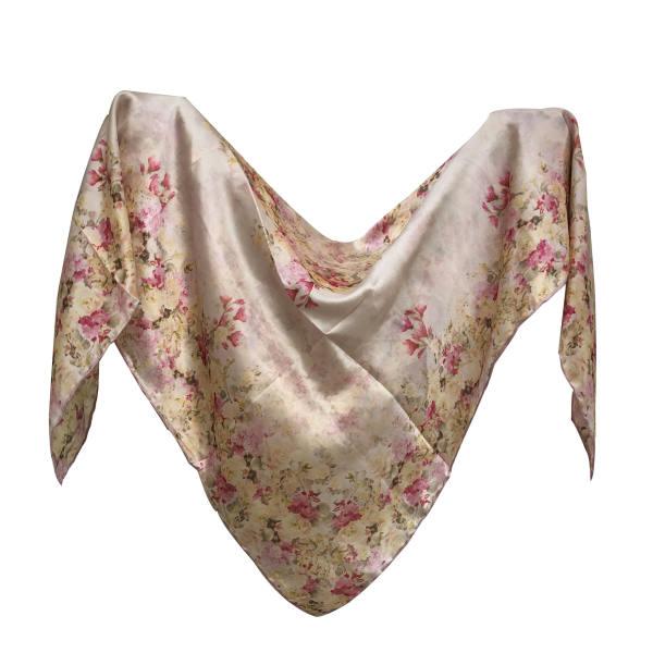 روسری زنانه ابریشم مامی دست دوز مدل 11