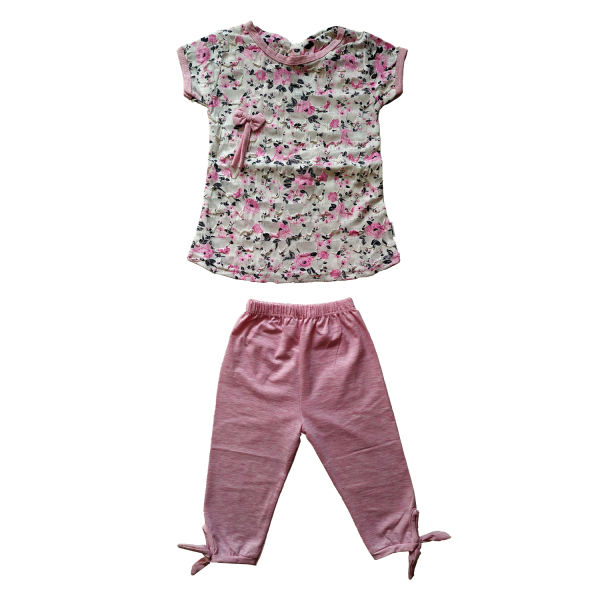 ست تی شرت و شلوارک دخترانه کد S-1005