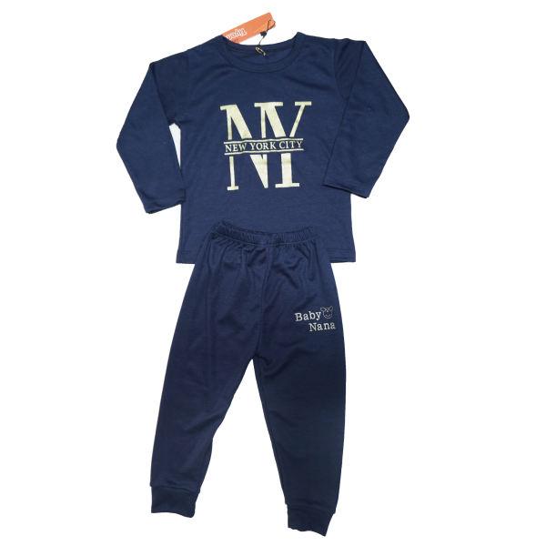 لباس اسپرت پسرانه بچه گانه - ست تی شرت و شلوار پسرانه کد M712