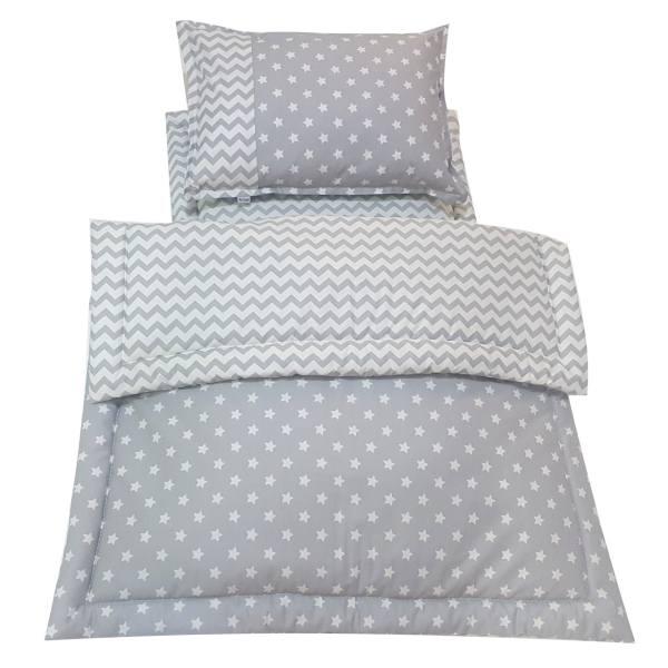 سرویس سه تکه خواب نوزادی آویراد طرح ستاره و زیگزاگ