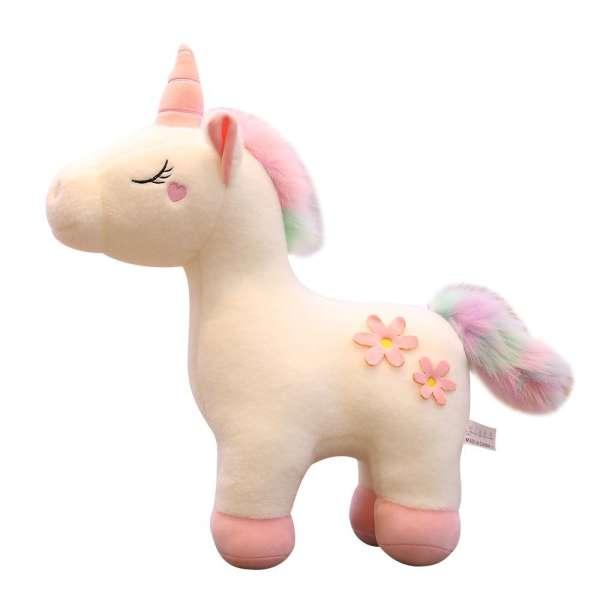 عروسک طرح اسب تک شاخ مدل Flower Unicorn