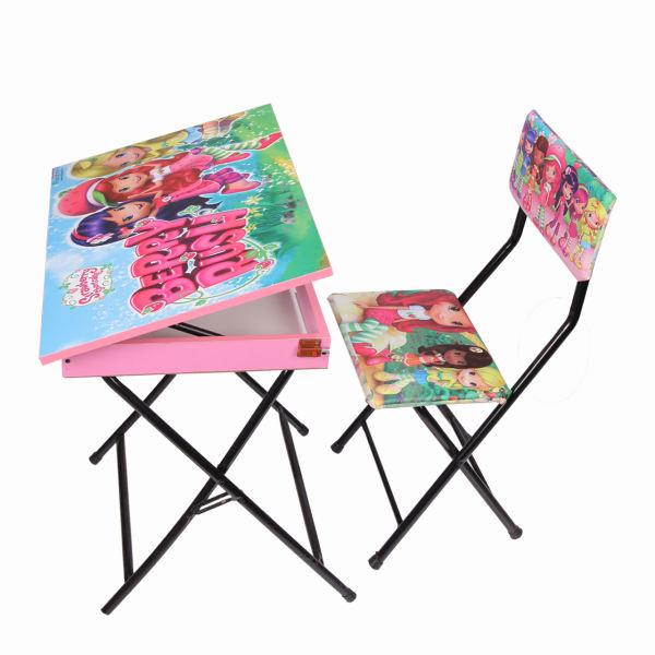 میز تحریر باکسدار و صندلی طرح توت فرنگی