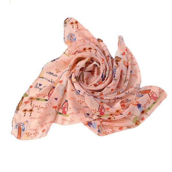 روسری دخترانه مدل تتیس با نوشته انگلیسی