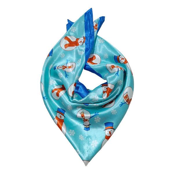 روسری دخترانه مدل آدم برفی