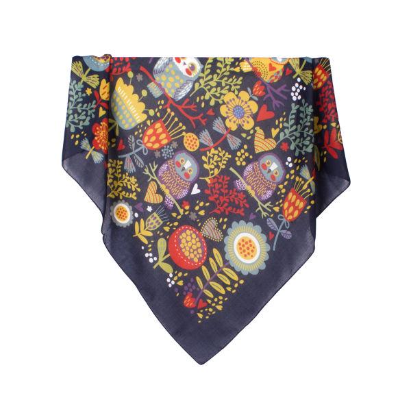 روسری دخترانه نسیما طرح جغد