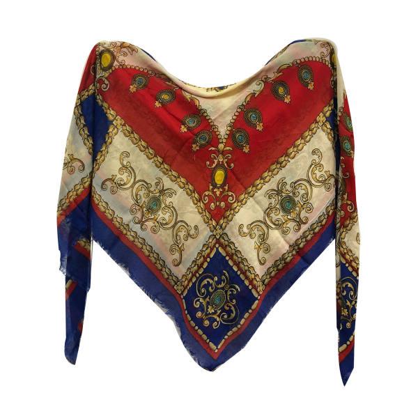 روسری زنانه نخی ریشه دار قواره 140 کد 306 تک سایز
