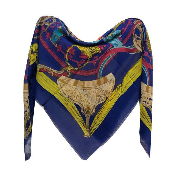 روسری زنانه نخی ریشه پرزی قواره 140 کد 601 تک سایز