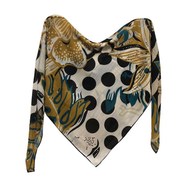 روسری زنانه نخی ژاننتی قواره 140 کد 405 تک سایز