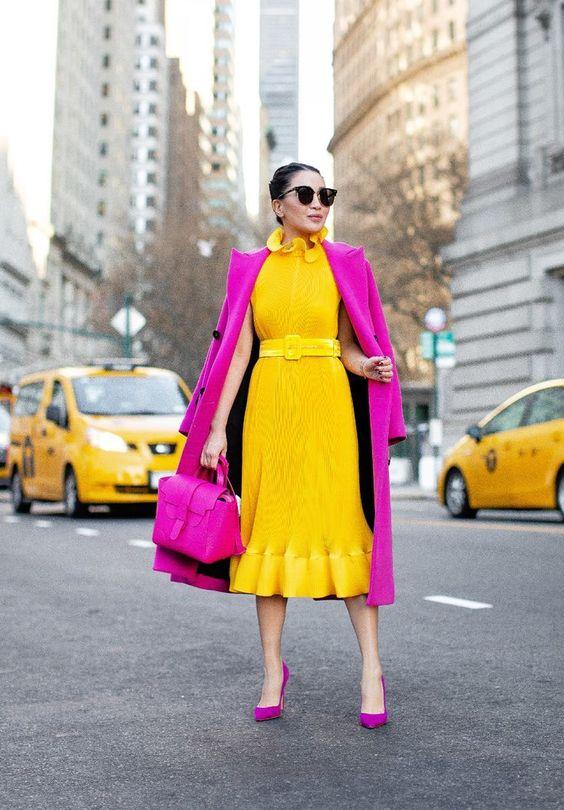 ست رنگی لباس مجلسی