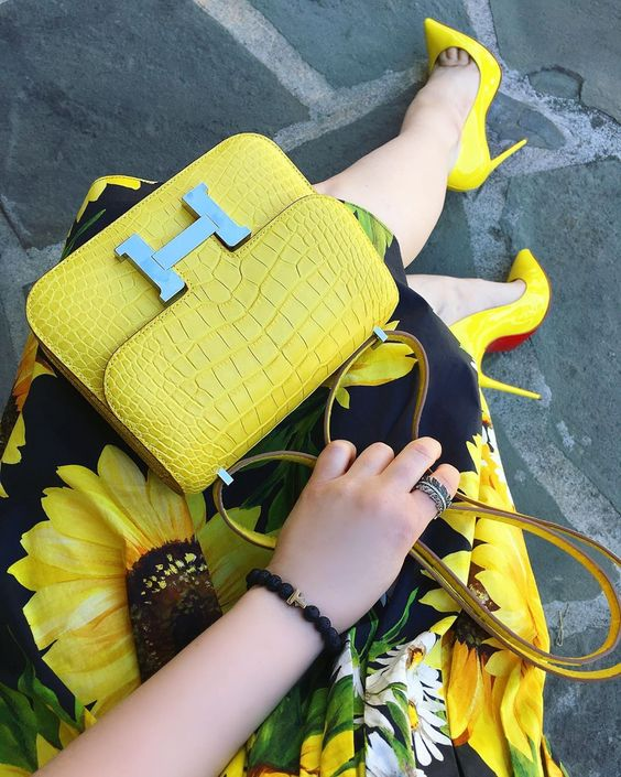 ست کفش و کیف مجلسی زرد
